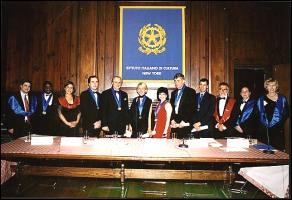 New York, Italian Cultural Institute, 5th June 2003: the group of the Neoacademicians